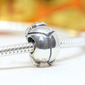 PANDORA Scarab Beetle Sterling Silver Charm 790526